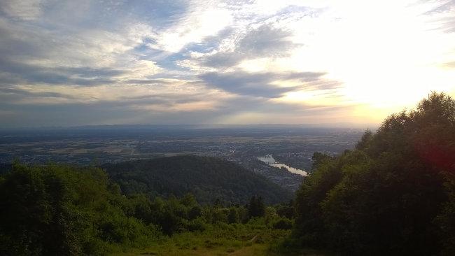 Heidelberg: Gipfelblick vom Königstuhl